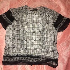Max studio printed blouse